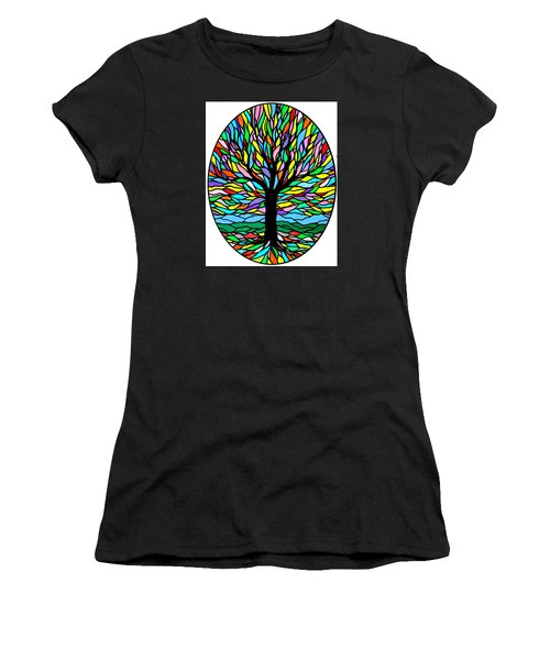 Prayer Tree Women's T-Shirt (Junior Cut) by Jim Harris