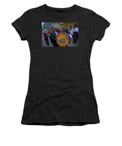 Women's T-Shirt (Junior Cut) featuring the photograph New Orleans Jazz Band  by Luana K Perez