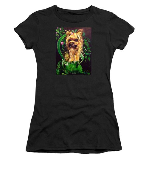 Women's T-Shirt (Junior Cut) featuring the painting Pretty Bambi by Belinda Low