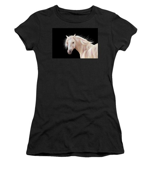 Pretty Palomino Pony Painting Women's T-Shirt (Athletic Fit)