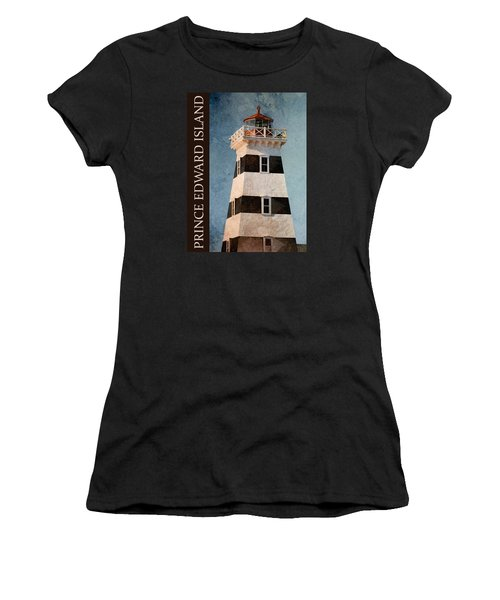 Women's T-Shirt (Junior Cut) featuring the photograph Prince Edward Island Lighthouse by WB Johnston