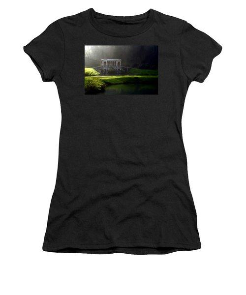 Women's T-Shirt (Junior Cut) featuring the digital art Prior Park Bath by Ron Harpham