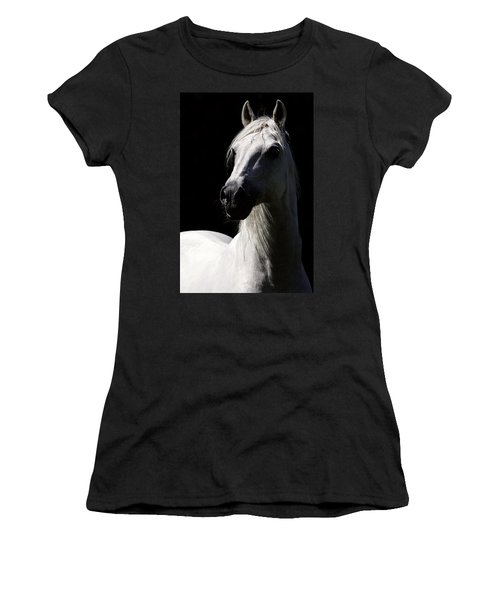 Proud Stallion Women's T-Shirt (Junior Cut) by Wes and Dotty Weber