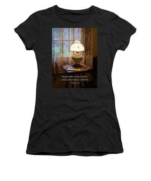 Proverbs 24 3 Through Wisdom Is An House Builded Women's T-Shirt