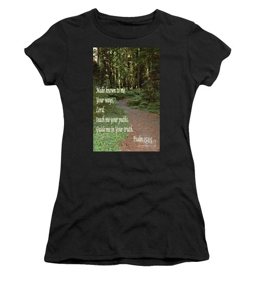 Psalm  - Paths Women's T-Shirt (Athletic Fit)
