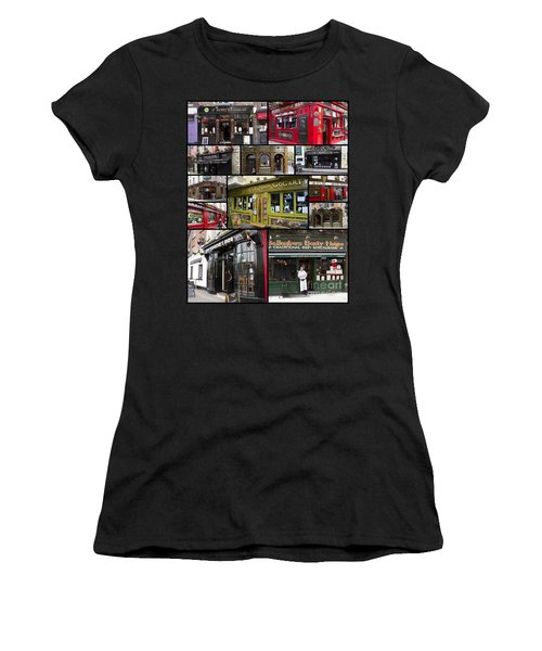Pubs Of Dublin Women's T-Shirt (Athletic Fit)