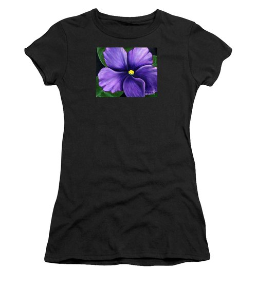 Purple African Violet Women's T-Shirt (Athletic Fit)