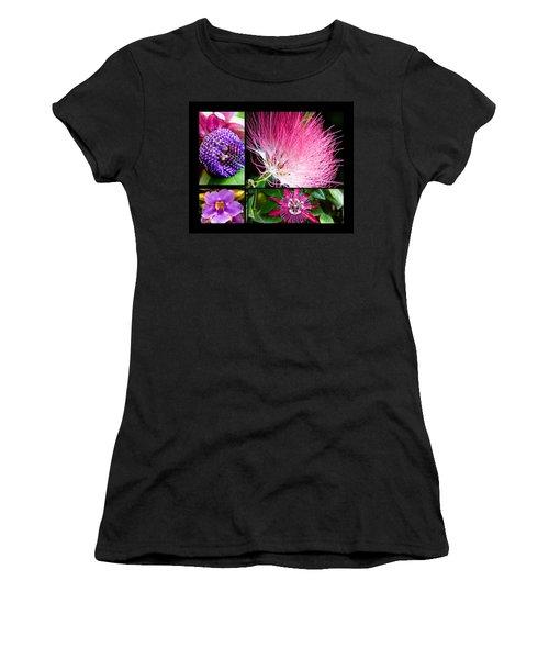 Purple Bouquet Women's T-Shirt (Athletic Fit)