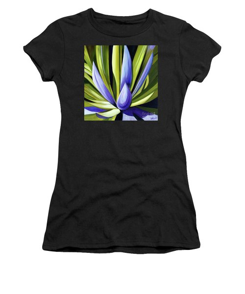 Purple Cactus Women's T-Shirt (Athletic Fit)