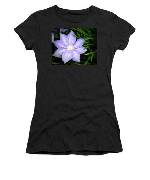 Purple Clematis Women's T-Shirt