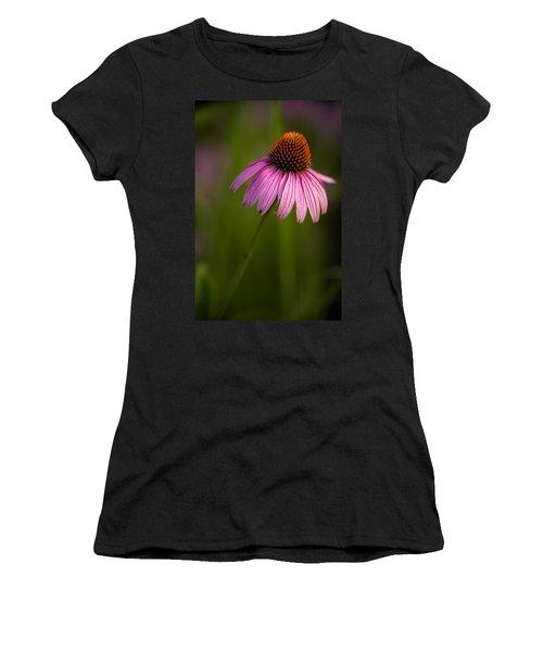 Purple Cone Flower Portrait Women's T-Shirt (Athletic Fit)