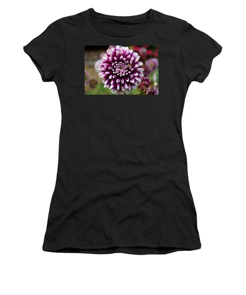 Purple Dahlia White Tips Women's T-Shirt