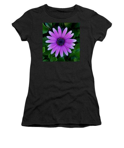 Purple Flower Women's T-Shirt (Junior Cut) by Pamela Walton