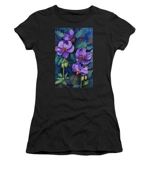 Purple Hibiscus Women's T-Shirt (Athletic Fit)