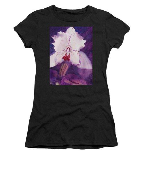Purple Orchid Women's T-Shirt (Athletic Fit)