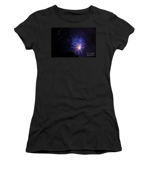 Women's T-Shirt (Junior Cut) featuring the photograph Purple Power by Suzanne Luft