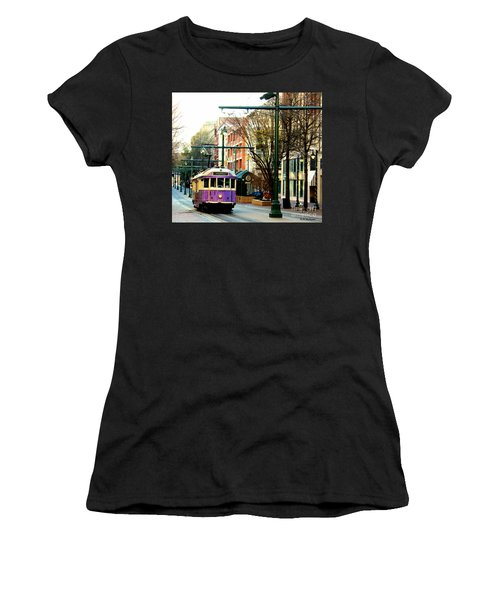 Purple Trolley Women's T-Shirt (Athletic Fit)