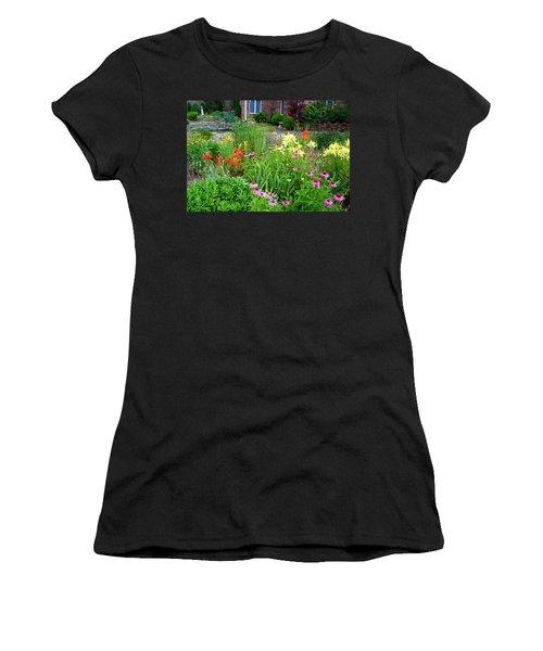 Women's T-Shirt (Junior Cut) featuring the photograph Quarter Circle Garden by Kathryn Meyer
