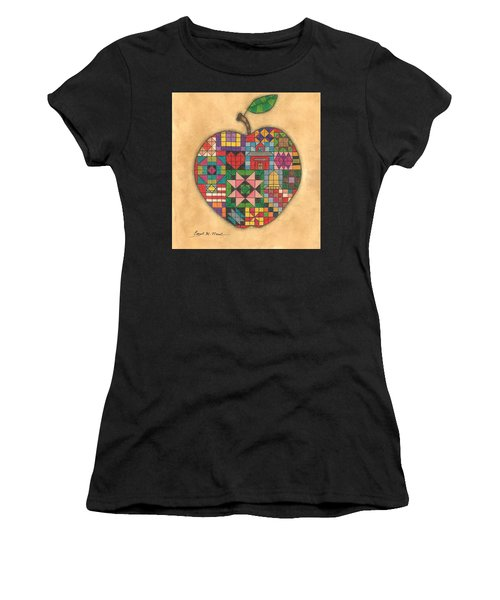 Quilted Apple Women's T-Shirt (Athletic Fit)