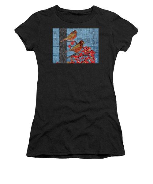 Sagebrush Sparrow Short Women's T-Shirt (Athletic Fit)