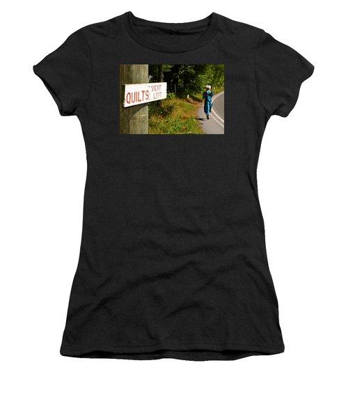 Quilts Next Left Women's T-Shirt (Athletic Fit)