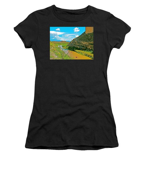 Rafting In Santa Elena Canyon In Big Bend National Park-texas Women's T-Shirt (Junior Cut) by Ruth Hager