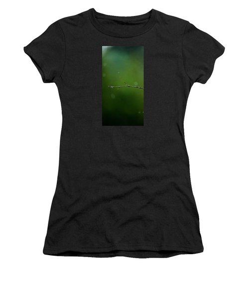 Rain Bokeh Women's T-Shirt (Junior Cut) by Shelby  Young