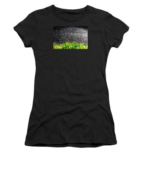 Women's T-Shirt (Junior Cut) featuring the photograph Rain In The Garden by Edgar Laureano