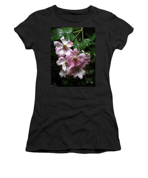 Rain Soaked Rose Women's T-Shirt (Junior Cut) by Nick Kirby
