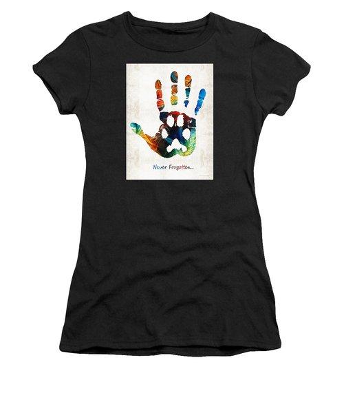 Rainbow Bridge Art - Never Forgotten - By Sharon Cummings Women's T-Shirt