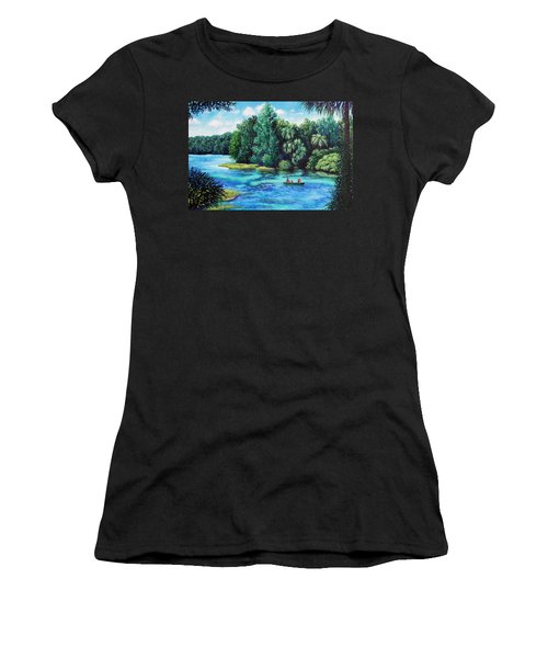 Rainbow River At Rainbow Springs Florida Women's T-Shirt