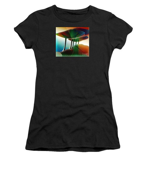 Rainbow Trees Women's T-Shirt (Athletic Fit)
