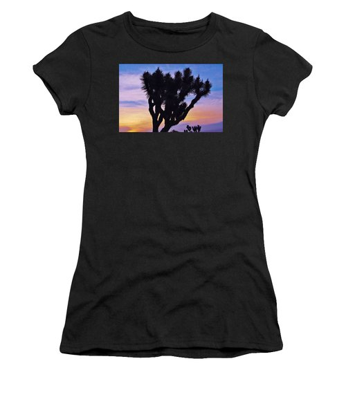 Women's T-Shirt (Junior Cut) featuring the photograph Rainbow Yucca by Angela J Wright
