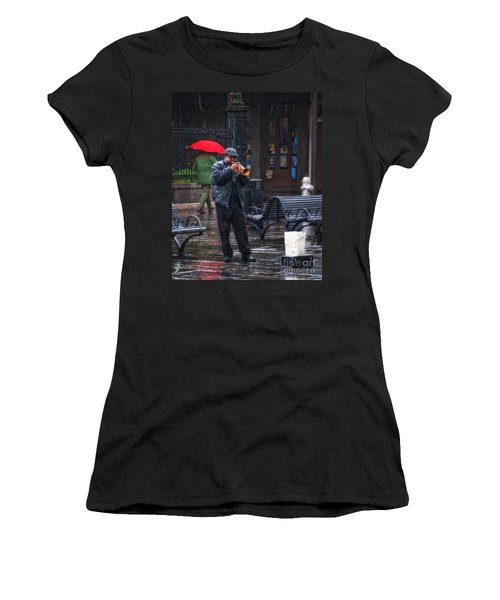 Rainy Day Blues New Orleans Women's T-Shirt (Junior Cut) by Kathleen K Parker
