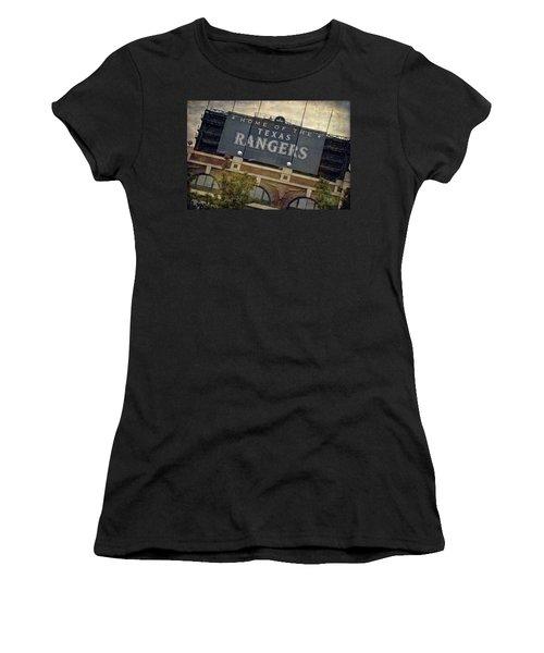Rangers Ballpark In Arlington Color Women's T-Shirt