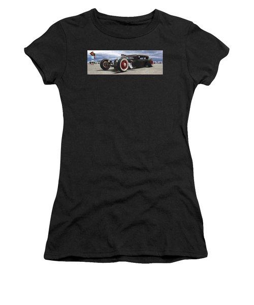 Rat Rod On Route 66 Panoramic Women's T-Shirt