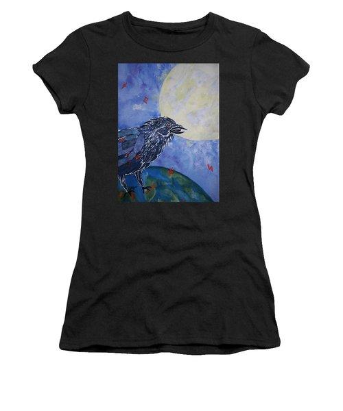 Raven Speak Women's T-Shirt (Athletic Fit)