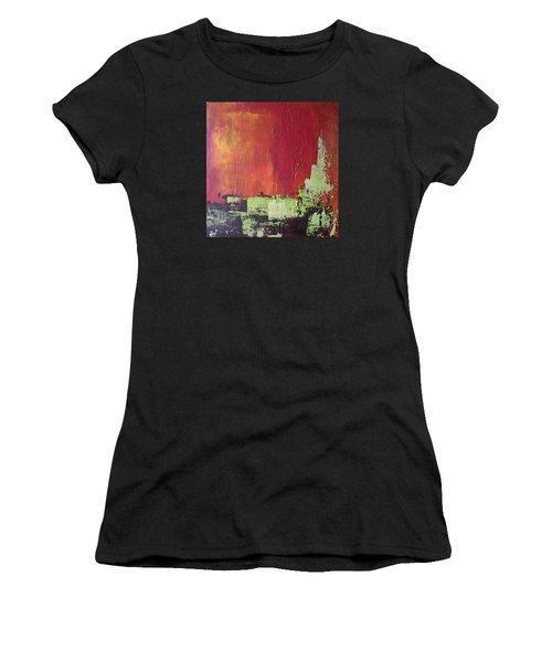Reaching Up, Abstract  Women's T-Shirt (Athletic Fit)