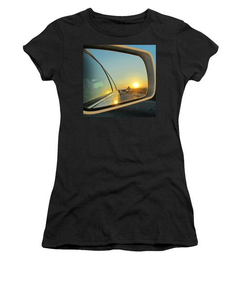 Rear View Sunset Women's T-Shirt (Athletic Fit)