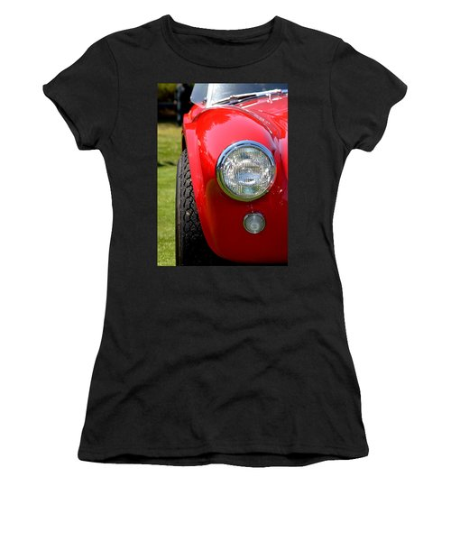 Women's T-Shirt (Junior Cut) featuring the photograph Red Ac Cobra by Dean Ferreira