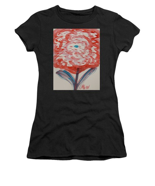 Red And Baby Blue Women's T-Shirt (Athletic Fit)