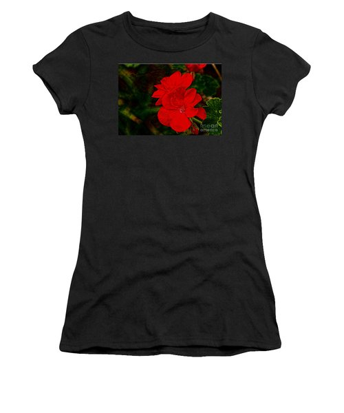 Red Flowers Women's T-Shirt