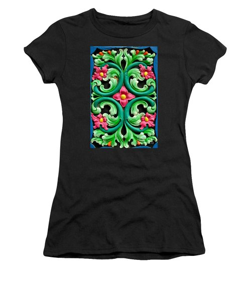 Red Green And Blue Floral Design Singapore Women's T-Shirt