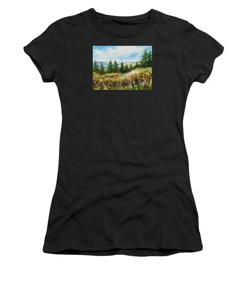 Red Rock View Road Women's T-Shirt (Athletic Fit)
