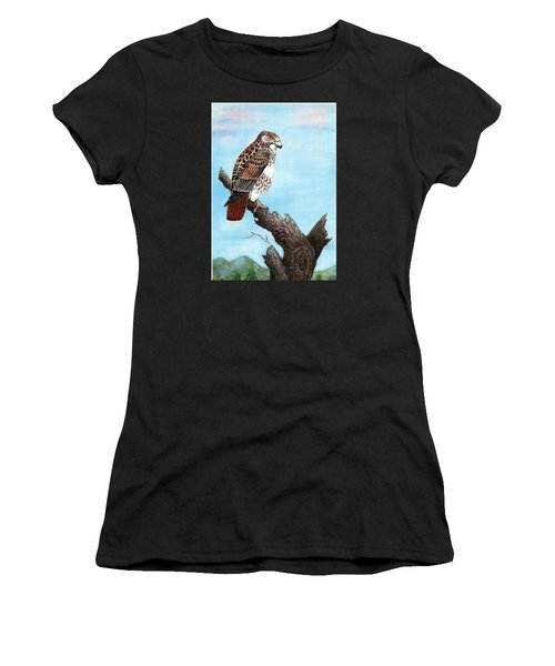 Red Tailed Hawk Women's T-Shirt (Athletic Fit)
