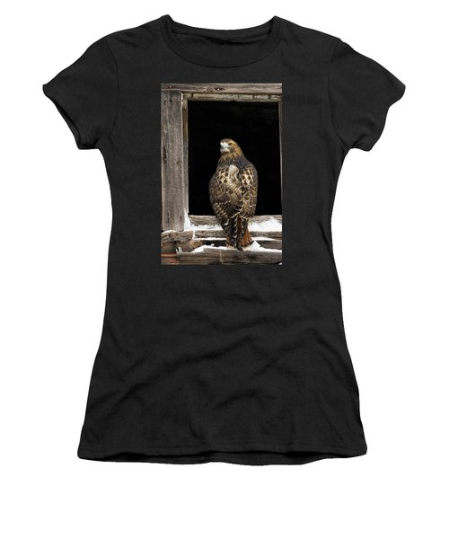 Red Tailed Women's T-Shirt (Athletic Fit)
