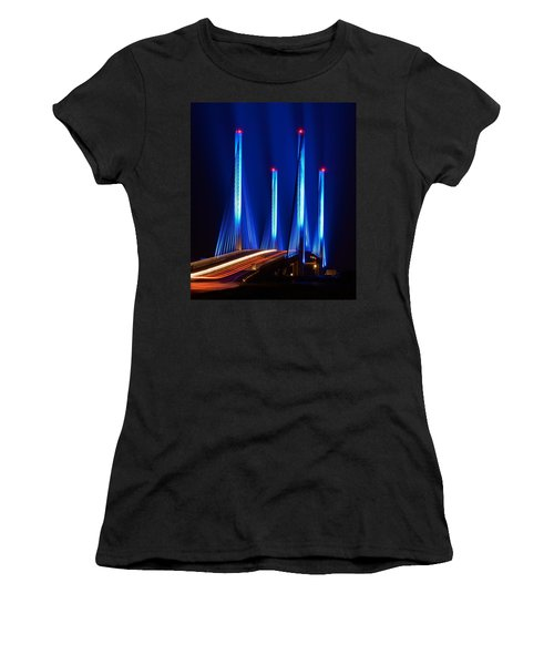 Indian River Inlet Bridge As Seen North Of Bethany Beach In This Award Winning Perspective Photo Women's T-Shirt (Athletic Fit)