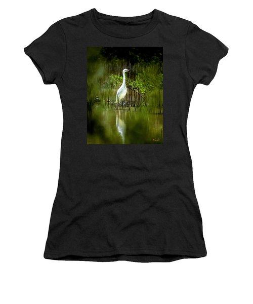 Reddish Egret 9c Women's T-Shirt (Junior Cut) by Gerry Gantt
