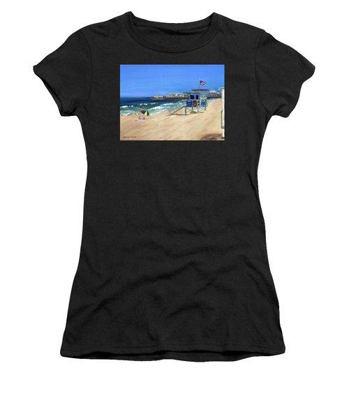 Redondo Beach Lifeguard  Women's T-Shirt (Athletic Fit)