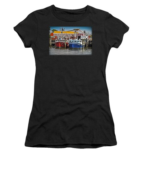 Women's T-Shirt featuring the photograph Reds Lobster Pot by Gary Keesler